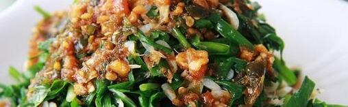 虾米拌韭菜的营养价值