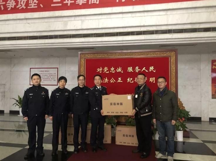 抗击疫情华信集团总裁徐旭昶捐赠价值110余万元的高科技口罩